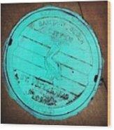 St Petersburg Manhole Wood Print