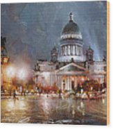 St. Petersburg.isaac Square Wood Print