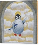 St Pinguin Bringer Of Fish Wood Print