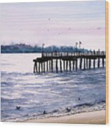 St. Simons Island Fishing Pier Wood Print