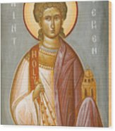 St Stephen II Wood Print by Julia Bridget Hayes