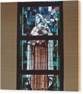 St. Theresa Stained Glass Window Wood Print