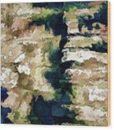 St Thomas - Brick Wall Shadow Wood Print