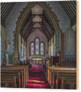 St Thomas Church, St Dogmaels Wood Print