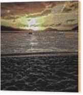 St Thomas - Dusk At Magans Bay Wood Print