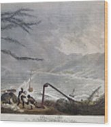 St. Thomas: Hurricane, 1819 Wood Print