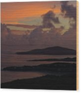 St Thomas Sunset At The U.s. Virgin Islands Wood Print