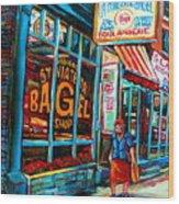 St. Viateur Bagel Bakery Wood Print