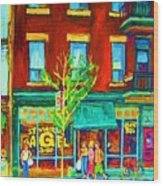 St Viateur Bagel Shop Wood Print