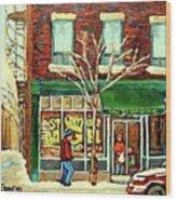 St Viateur Bagel Shop Montreal Wood Print