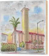 St. Victor's Catholic Church, West Hollywood, Ca Wood Print