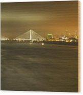 Sta Musial Bridge And St Louis Skyline Wood Print