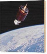 Stabilizing Spacecraft Wood Print