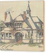 Stable For Mr. M. S. Hershey Lancaster Pennsylvania 1891 Wood Print