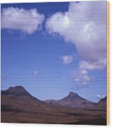 Stac Pollaidh Inverpolly National Nature Reserve Wester Ross Scotland Wood Print