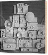 Stack O Cameras Wood Print