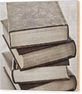 Stack Of Books Wood Print