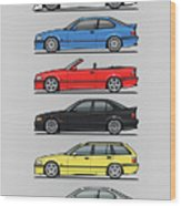 Stack Of E36 Variants Wood Print