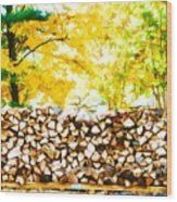 Stack Of Firewood Wood Print