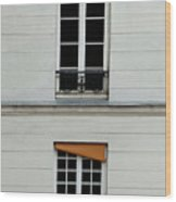 Stacked French Windows Wood Print