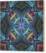 Stacked Kaleidoscope Wood Print
