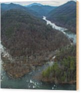 Stackhouse Bend On French Broad River Wood Print