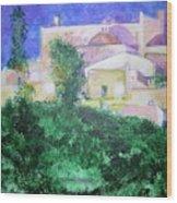 Staeulalia Church - Lit Up At Night Wood Print