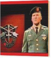 Staff Sergeant Barry Sadler Singing On National Tv - Ed Sullivan Show 1966-2016 Wood Print