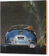 Star Gazing,1955 Porsche 356a 1600 Speedster, Under The Milky Way Wood Print