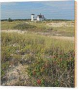 Stage Harbor Lighthouse Cape Cod Wood Print