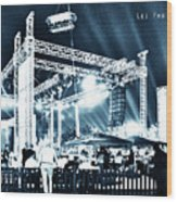 Stage Lights Wood Print