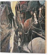 Stagecoach Robbers Wood Print