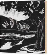 Stagecoach West Wood Print