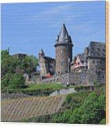 Stahleck Castle In The Rhine Gorge Germany Wood Print
