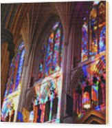 Stain Glass Cathedral Wood Print