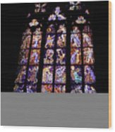 Stain Glass Window Wood Print