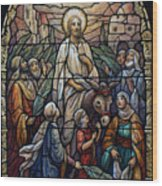 Stained Glass - Palm Sunday Wood Print