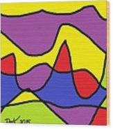 Stained Glass Abstract Wood Print