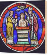 Stained Glass - Baptism - Musee De Cluny Wood Print