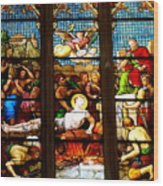 Stained Glass Beauty #38 Wood Print