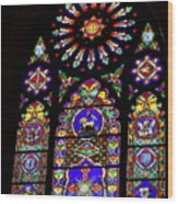 Stained Glass Beauty #46 Wood Print