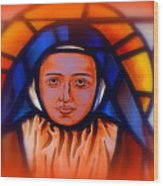 Stained Glass Beauty #66 Wood Print