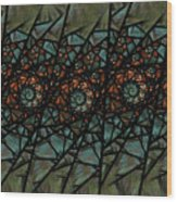 Stained Glass Floral I Wood Print