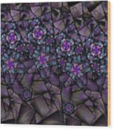 Stained Glass Floral II Wood Print