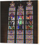 Stained Glass Glory Of St Patricks Wood Print