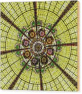 Stained Glass Kaleidoscope Wood Print