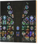 Stained Glass Our Lady Of The Rosary Cathedral Manizales Colombia Wood Print