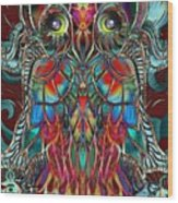 Stained Glass Owl  Wood Print