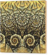 Stained Glass Summer Wood Print