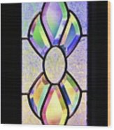 Stained Glass Watercolor Wood Print